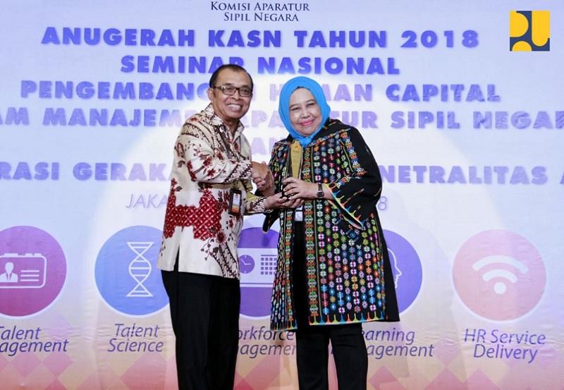 Kementerian PUPR Menerima 2 Penghargaan dari Komisi Aparatur Sipil Negara