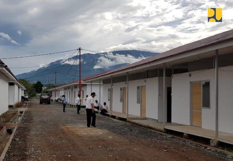 Kementerian PUPR Selesaikan 190 Unit Huntara di Sulteng