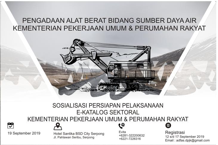 Pengadaan Alat Berat Bidang Sumber Daya Air Kementerian Pekerjaan Umum dan Perumahan Rakyat