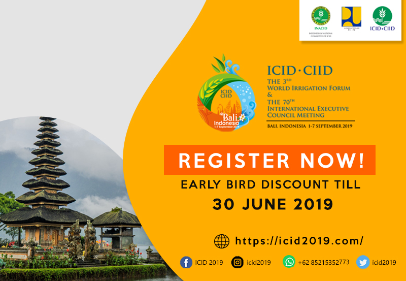 ICID.CIID - 3rd World Irrigation Forum & 70th International Executive Council Meeting 1-7 September 2019